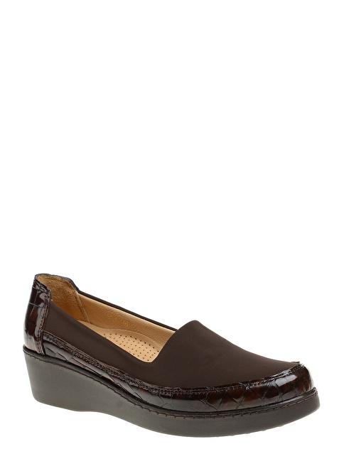 Divarese Dolgu Topuk Klasik Ayakkabı Kahve